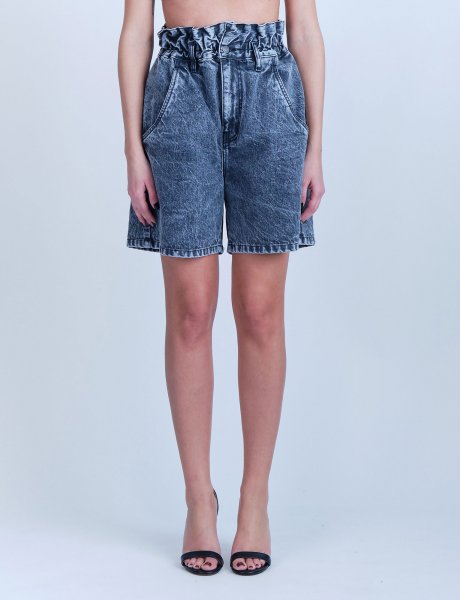 May black pearl denim shorts